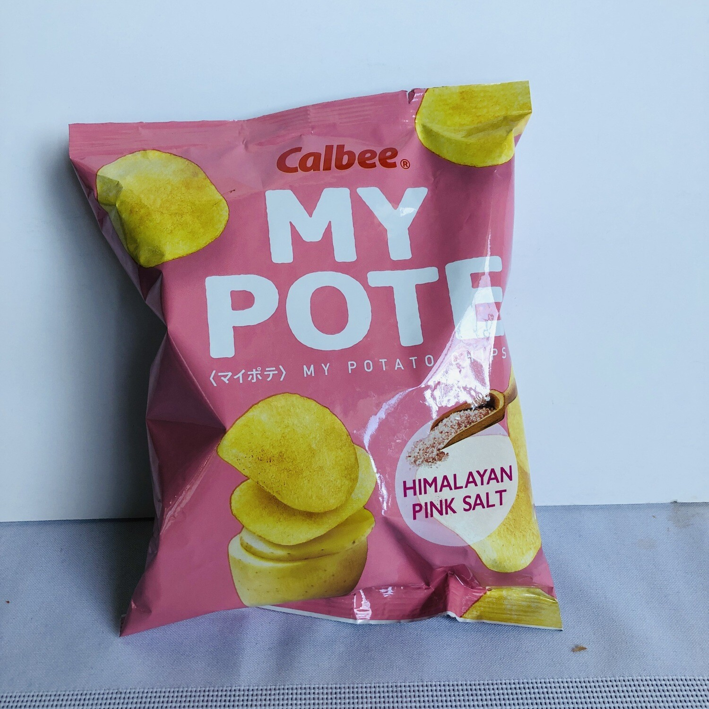 Calbee My Pote Potato Chips Himalayan Pink Salt