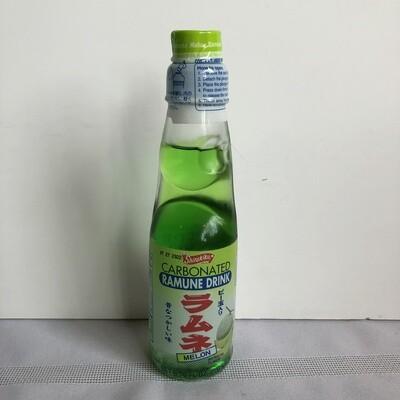 Shirakiku Ramune Marble Soft Drink Melon