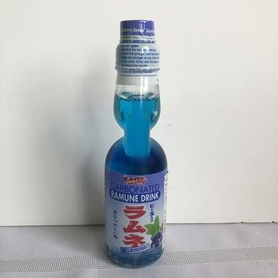 Shirakiku Ramune Marble Soft Drink Blueberry