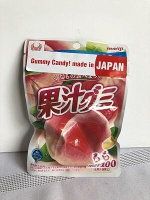 Meiji Kajyu Gummy White Peach