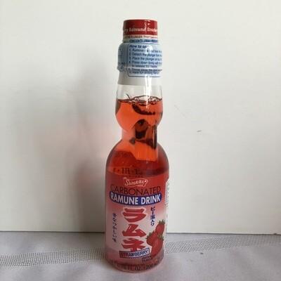 Shirakiku Ramune Marble Soft Drink Strawberry