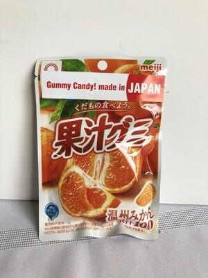 Meiji Kajyu Gummy Unshu Orange