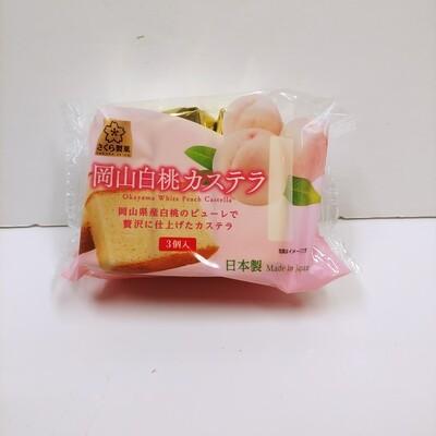 Sakura white Peach Castella 3pc