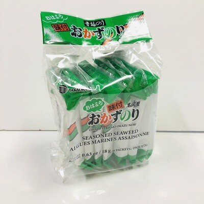 Takaokaya Okazu Nori Seasoned Seaweed 8 Pack