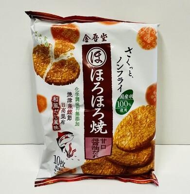 Kingodo Horohoro Yaki Rice Cracker Sweet Soy