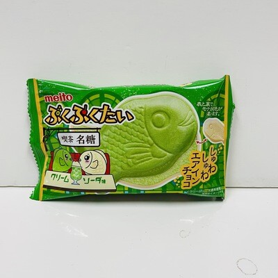 Meito Taiyaki Cream Soda Chocolate Wafer
