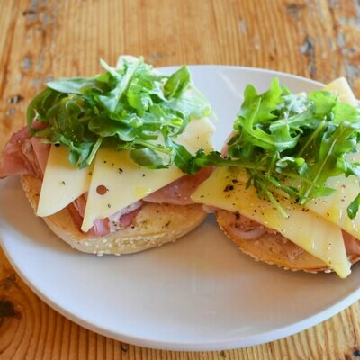 Bagel Ham+Swiss
