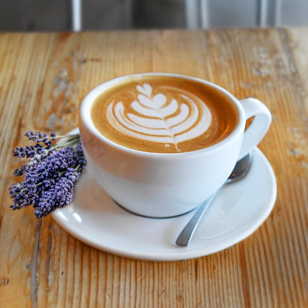 Honey-Lavender Latte