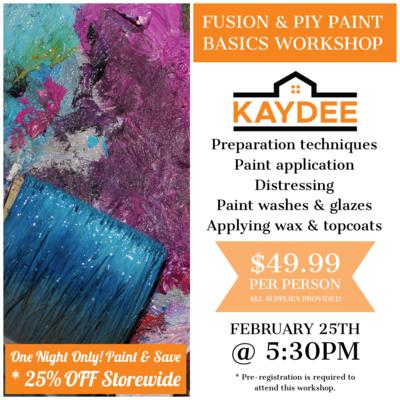 Basic 101 Paint Workshop Feb 25/21