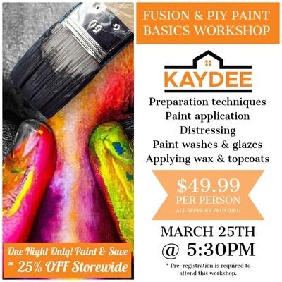 Basics 101 Paint Workshop - March 25