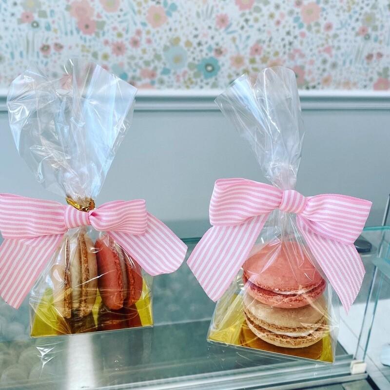 2 Macaron Favor-cellophane bag