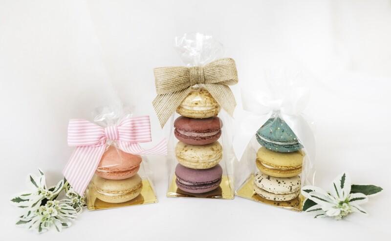4 pack Macaron Favor- bag