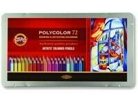 "Карандаши цветные KIN ""POLYCOLOR"", набор 72 цв., метал. кор."