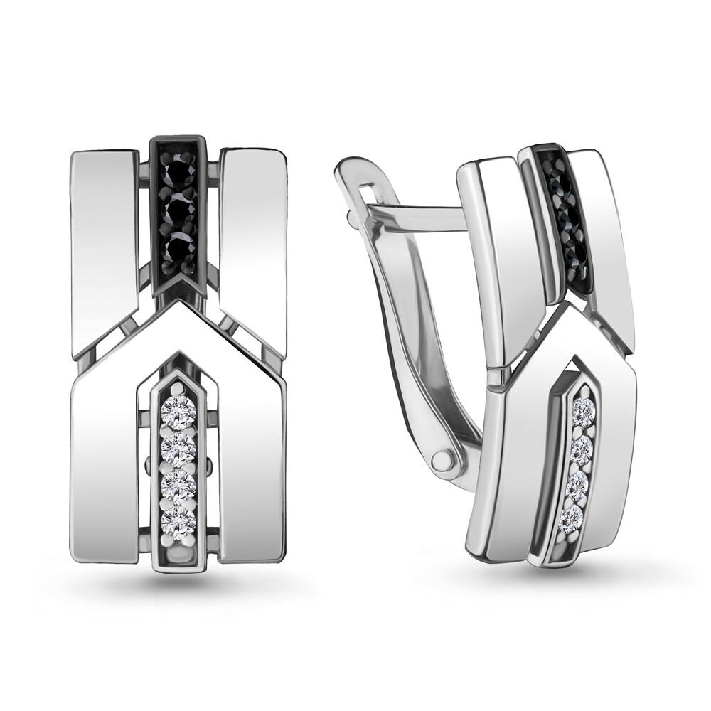Серьги  48090АЧ серебро 925