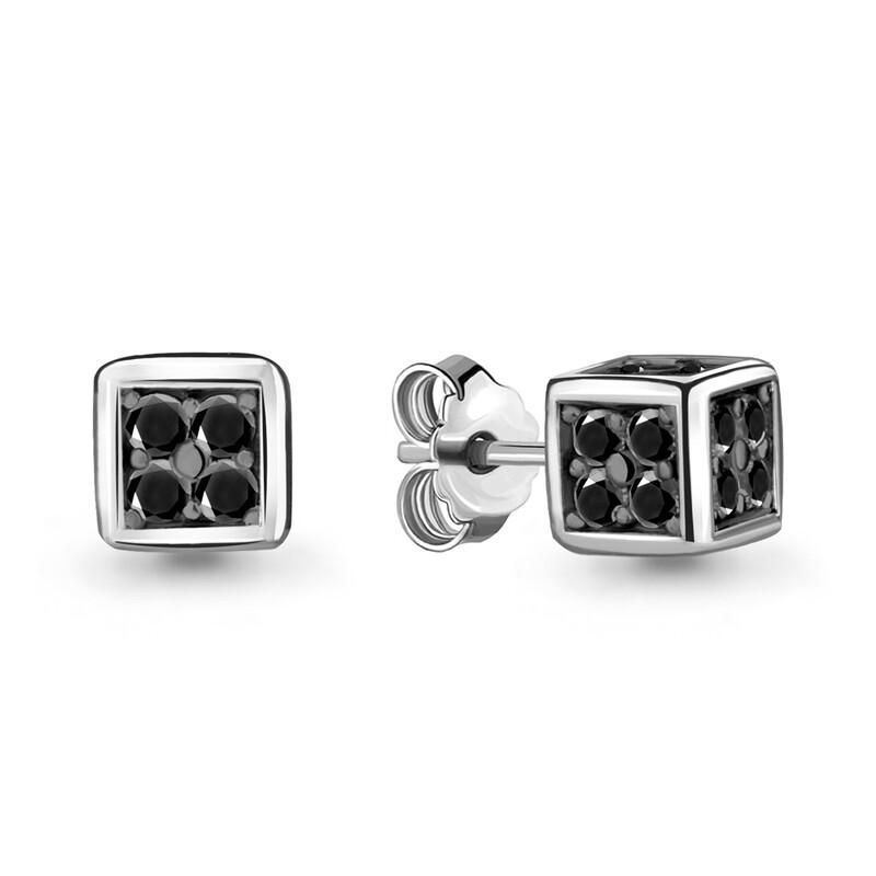 Серьги 48006Ч серебро 925