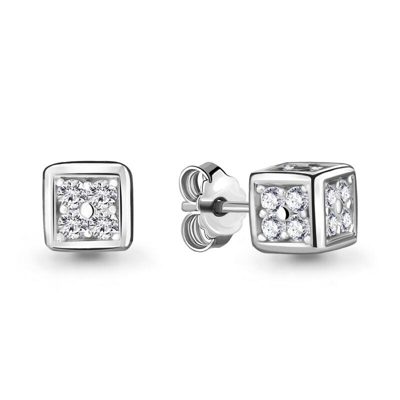 Серьги 48006А серебро 925
