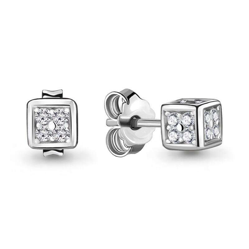 Серьги  48008А серебро 925