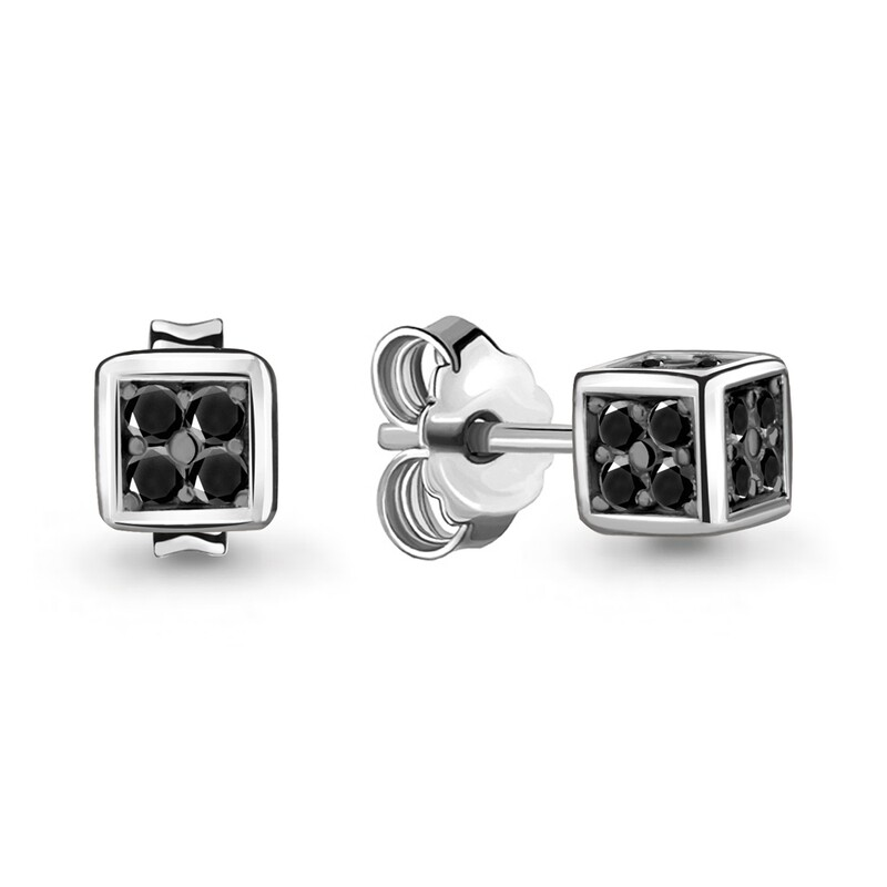 Серьги  48008ч серебро 925