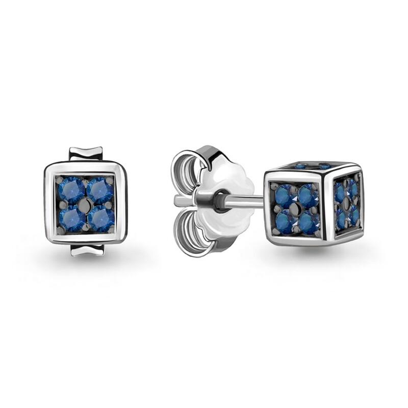 Серьги 48008Б серебро 925