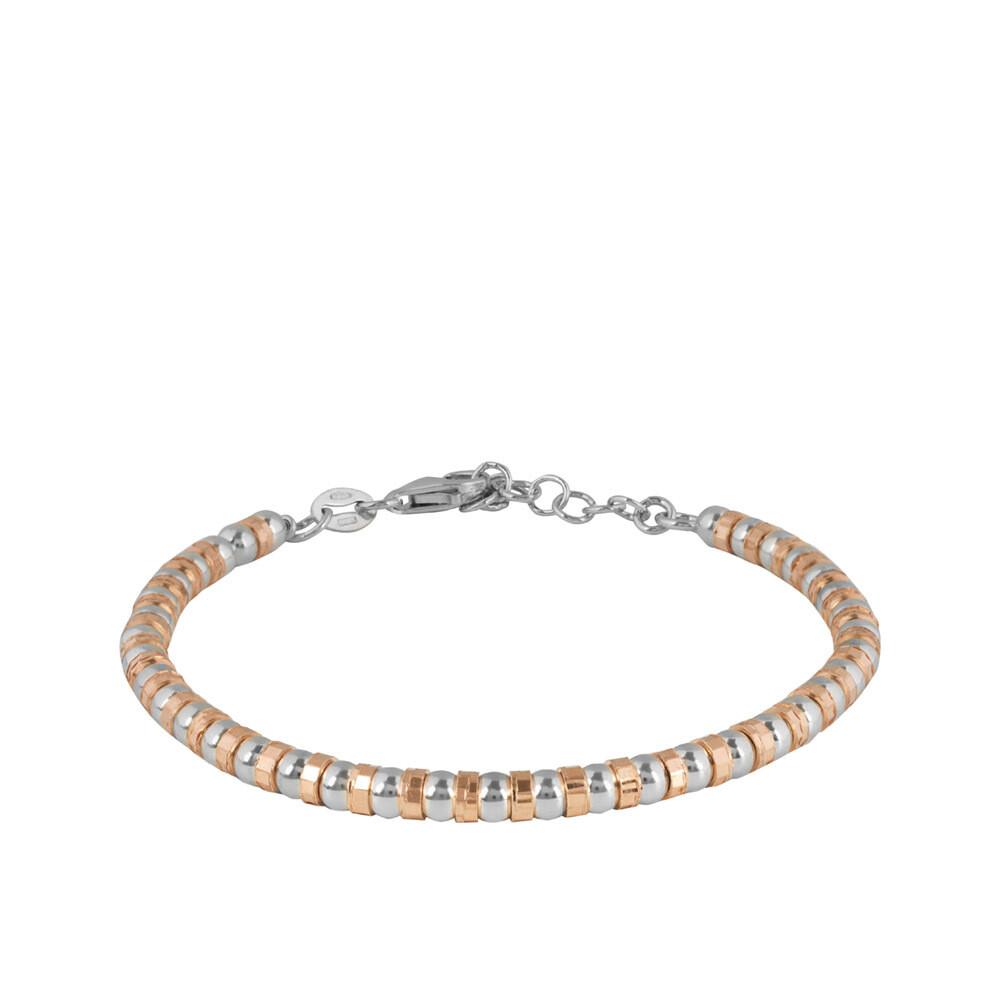 Браслет из золоченого серебра без вставок с алмазной гранью