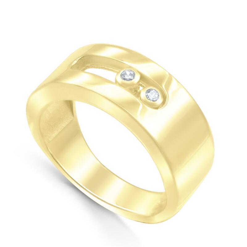 Кольцо из золоченого серебра со вставками