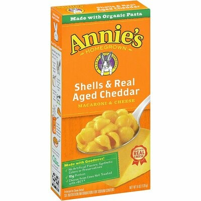 Annie's Shell's and Real Aged Cheddar