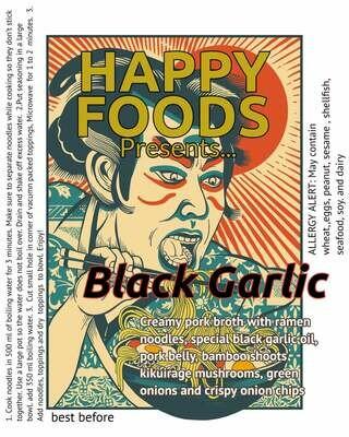Happy Foods Ramen Black Garlic