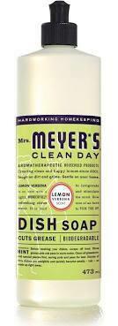 Mrs Meyers Lemon Verbena dish soap