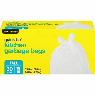 NoName White Kitchen Garbage Bags