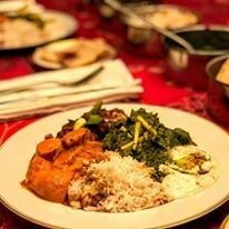 Saffron Curry Palak Paneer Meal