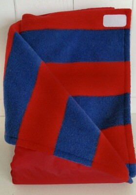 Pitt Patt Blanket (child size) - blue&red rugby/red