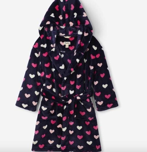 Lovey Hearts Fleece Robe LRG