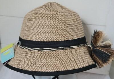 Cali Kids Woven Hat - 4y-8y Black