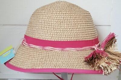 Cali Kids Woven Hat - 4y-8y Pink