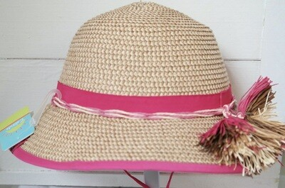 Cali Kids Woven Hat - Adult Pink