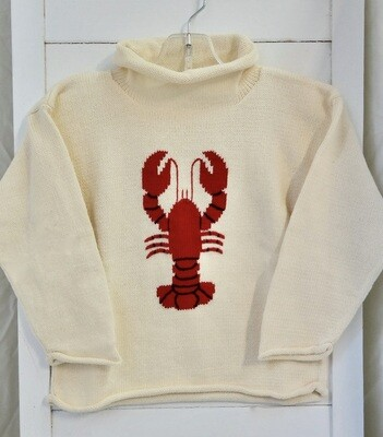 Claver roll neck sweater - 8 ecru