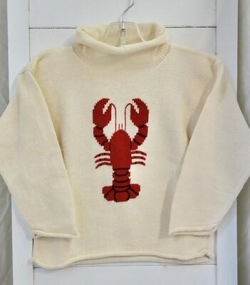 Claver roll neck sweater - 6 ecru