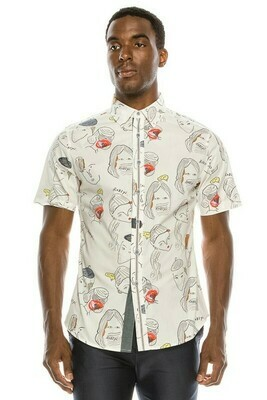 Trevor Face Button up