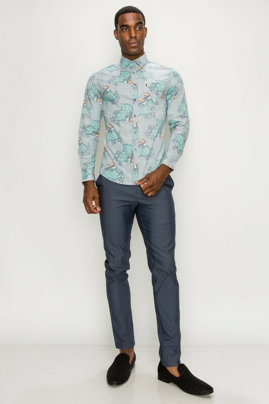 The Tropic Long Sleeve Button-up