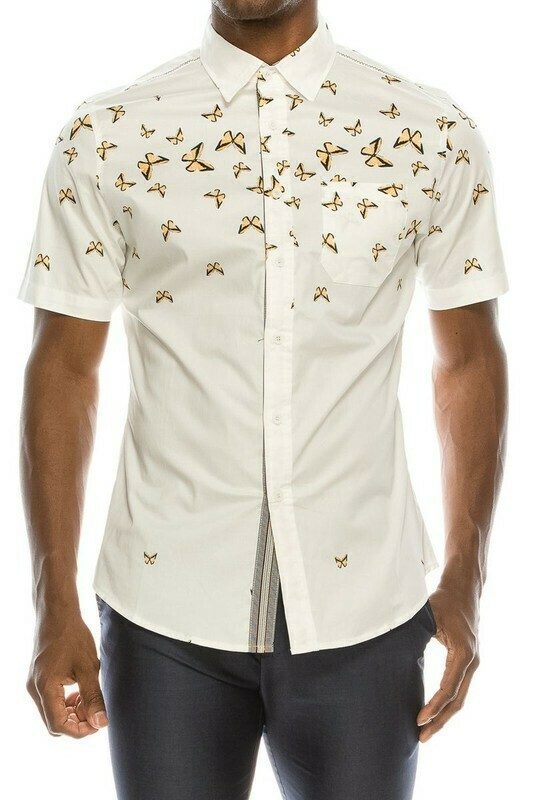 The Butterfly Short Sleeve Button Up