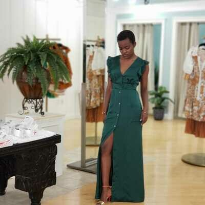 Heather Green Maxi Dress