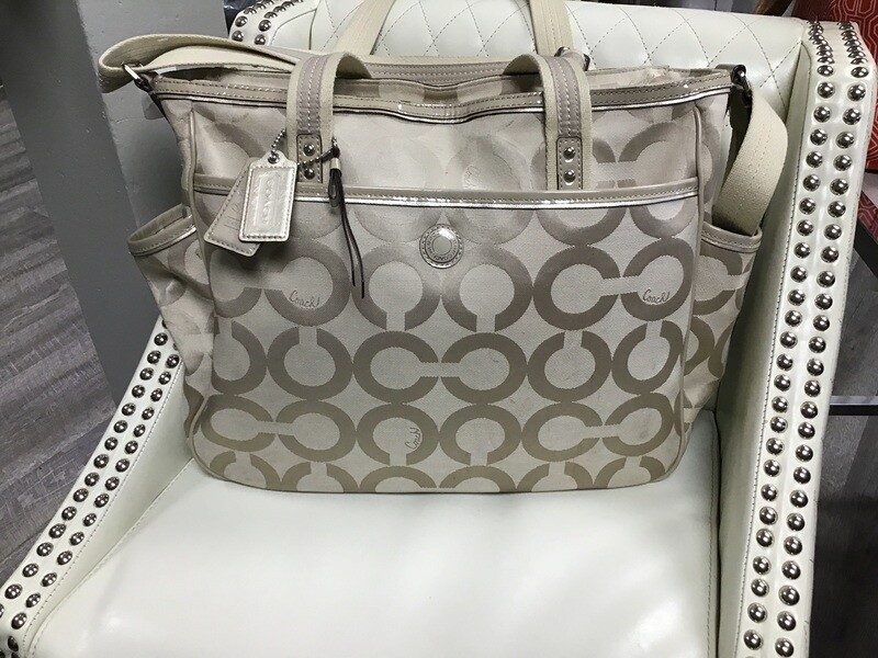Coach Diaper Bag Tan