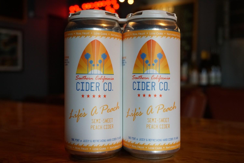 Southern California Cider Life's A Peach