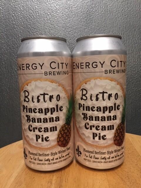 Energy City Bistro Pineapple Banana Cream Pie