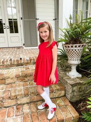 Sadie Scalloped Cap Sleeve Dress