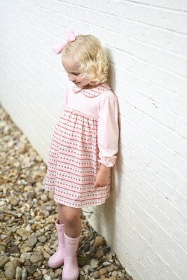 Sally Scalloped Knit Dress