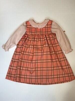 Pumpkin Plaid Dress
