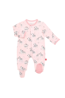 Modal Magnetic Pink Little One Footie