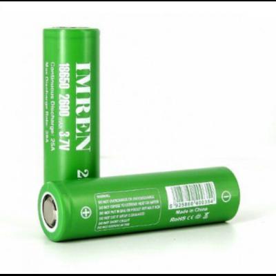 IMREN 18650 26S 2600mAh 38A Batteries (2 pack)