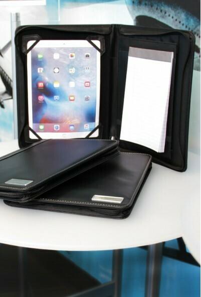 Zippered iPad Padfolio